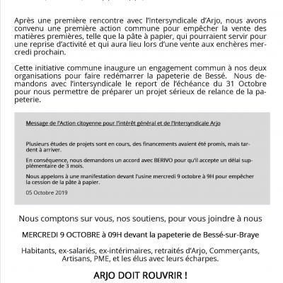 Communique 051019