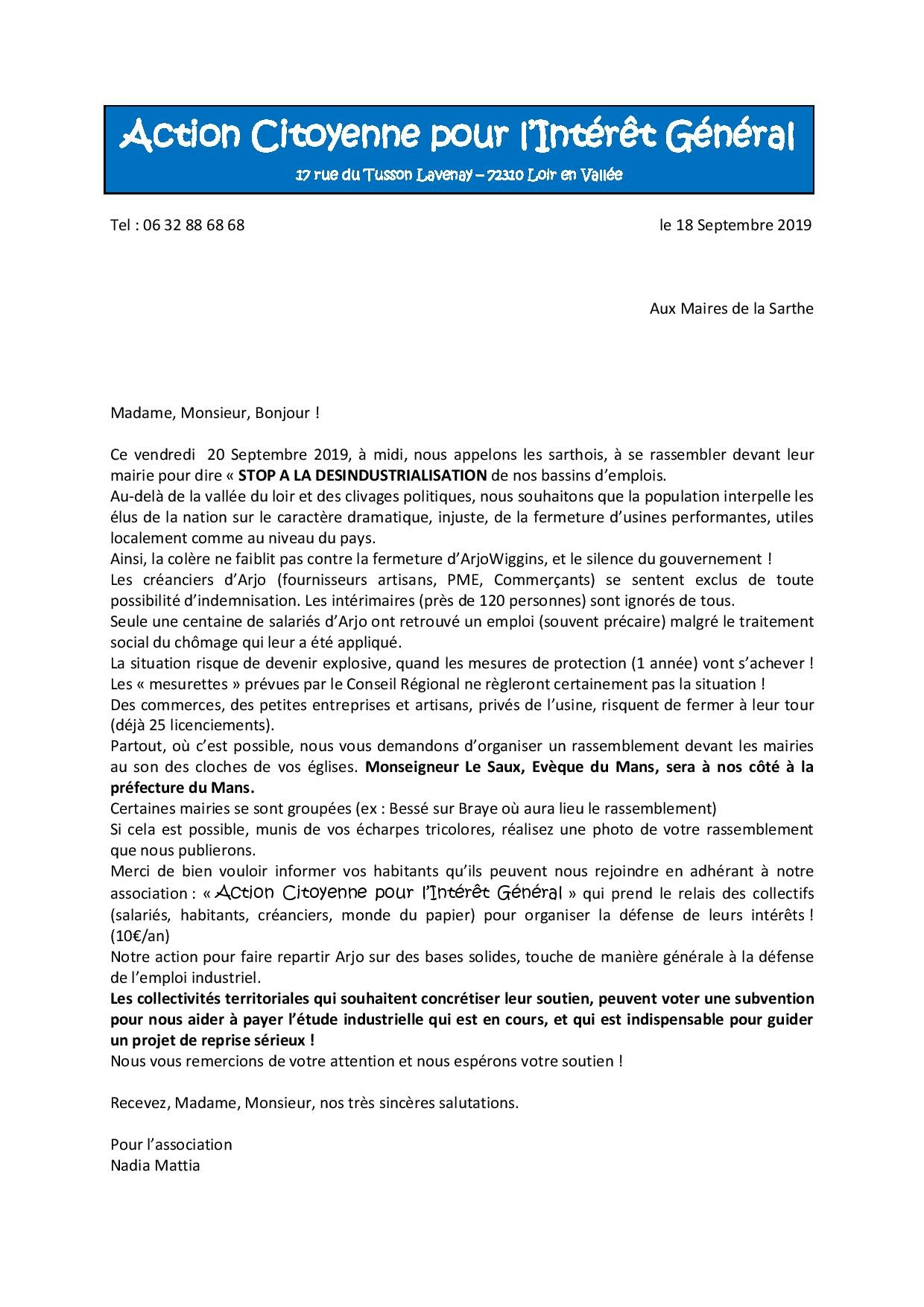 Lettre aux maires 180919 1