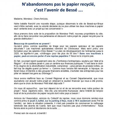 N abandonnons pas le papier recycle 230620