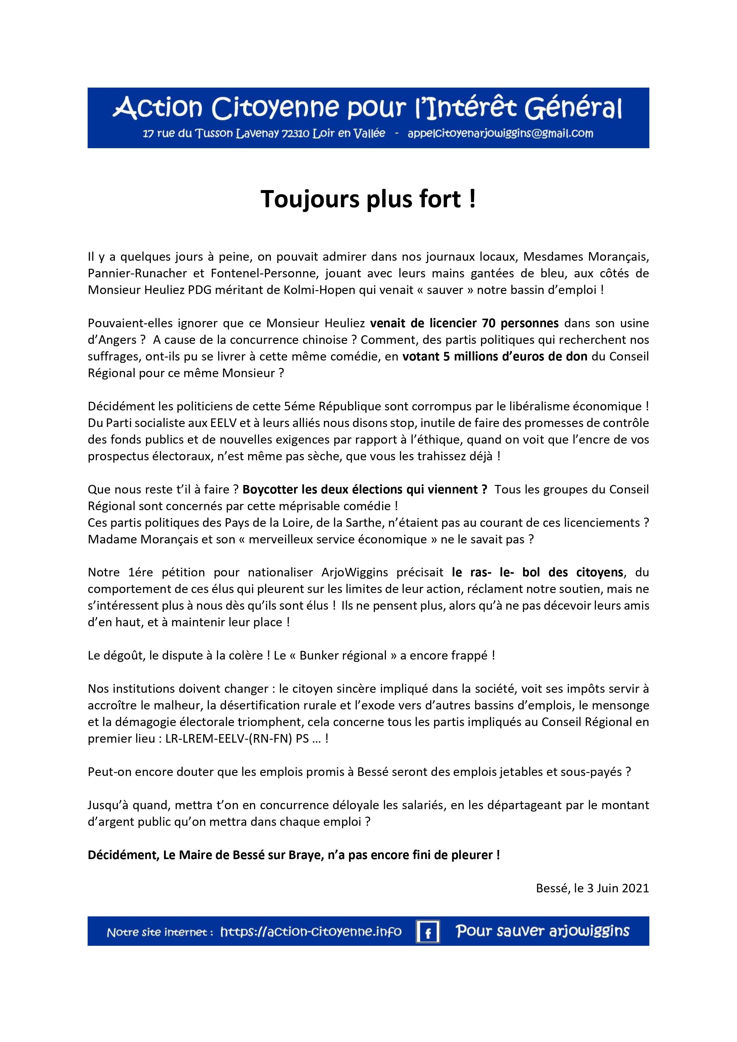 Toujours plus fort 030621